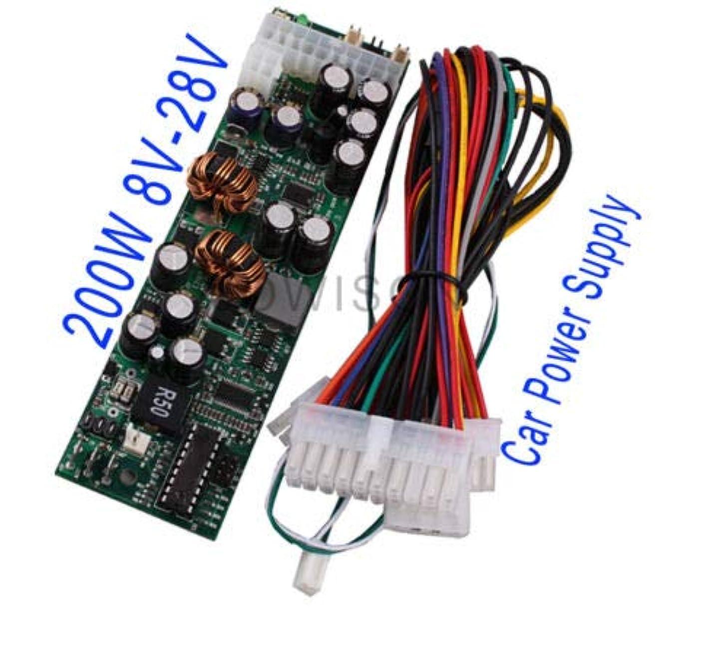 レールもろいブレースFidgetGear 200W 8V-28V Mini-ITX M2 Car PC DC-DC ATX PSU ITPS Power Vehicle ATX Power Supply