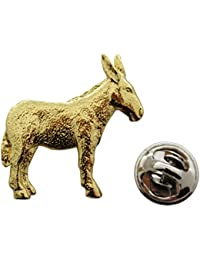 DonkeyまたはMuleピン~ 24 Kゴールド~ラペルピン~サラのTreats & Treasures