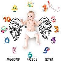 写真毛布、Asdomo新生児赤ちゃん写真プロップfor Infants &新生児Girl and Boyベビーシャワーギフト