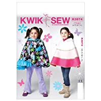 Kwik Sew Patterns K3974 Children/Girls Capes Sewing Template, All Sizes by KWIK-SEW PATTERNS