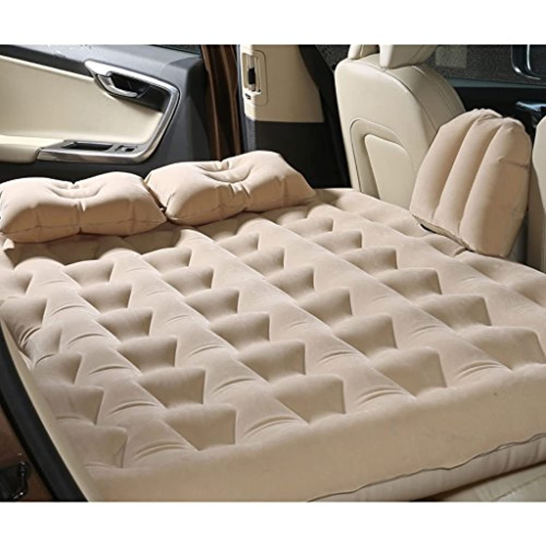 カースプリット折りたたみリアシートリアテールボックスカーベッドインフレータブルクッションカーベッド