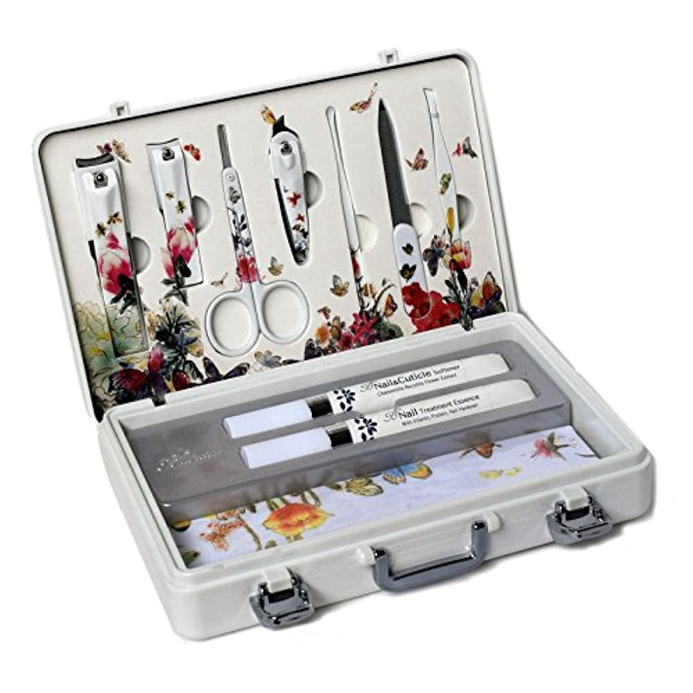 用心するメディカル学校教育METAL BELL Manicure Sets BN-2000 爪の管理セット爪切りセット 高品質のネイルケアセット高級感のある東洋画のデザイン Nail Clippers Nail Care Set