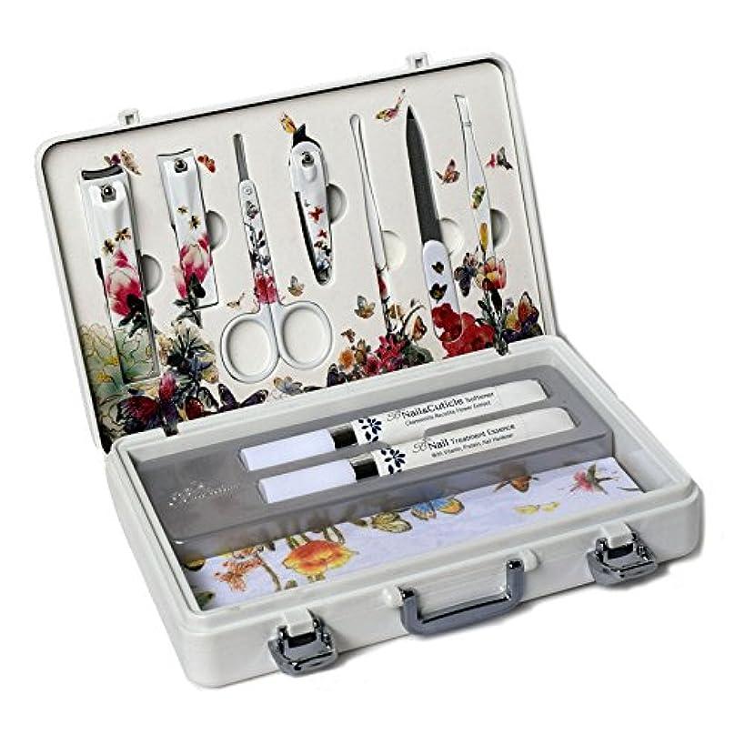 安らぎいじめっ子ワークショップMETAL BELL Manicure Sets BN-2000 爪の管理セット爪切りセット 高品質のネイルケアセット高級感のある東洋画のデザイン Nail Clippers Nail Care Set