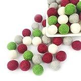 Mamimami Home 2CM 100% ウールボール 手作り 生態や自然羊毛 フェルトボール ビーズ 30個入 (J-K110)