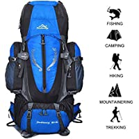 80 L + 5 L Internal Frame Backpack Outdoor Waterproof Backpack Climbing Fishing Rucksac Hiking Daypack Camping Outdoor Trekking Mountaineering Bag
