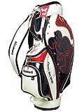 キスマーク(kissmark) KM-0C045 キャディバッグ 9型 メンズ ゴルフ ホワイトXレッド 9