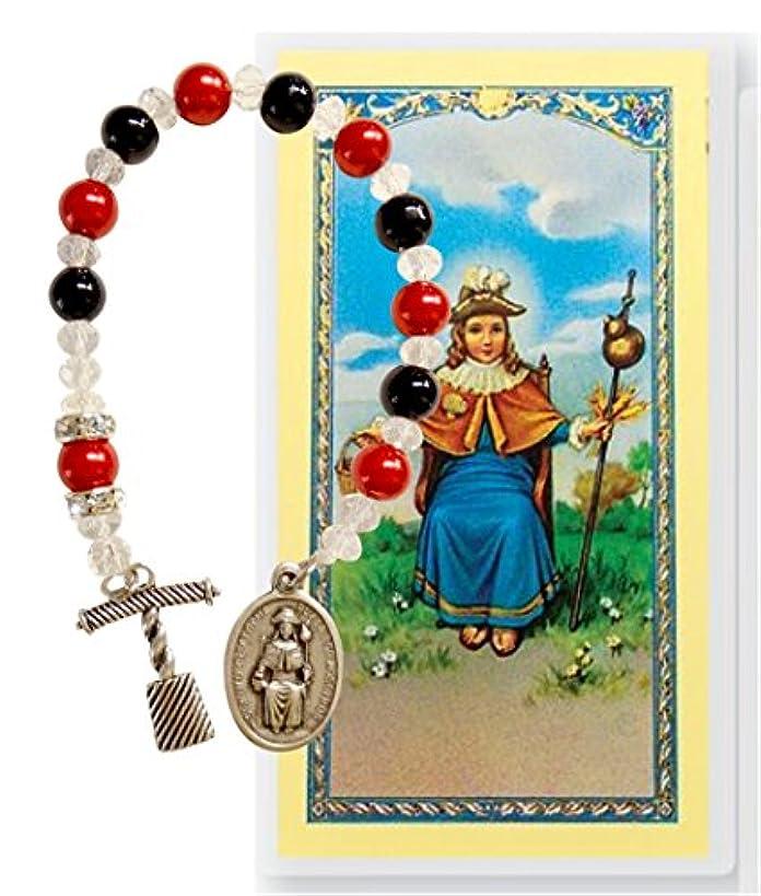ポータブル荒野クロスHoly子のAtochaシャプレPrayerカードスペイン語で英語またはBlessed by Pope Francis Free Scented Candle withイメージ