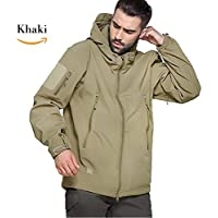 Top Greener Men's Jacket Tactical Soft Shell Waterproof Windbreaker Fleece Hooded Special Ops Outdoor Skiing Winter Coat