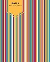 """Daily Work Task Planner: Stripes Cover 