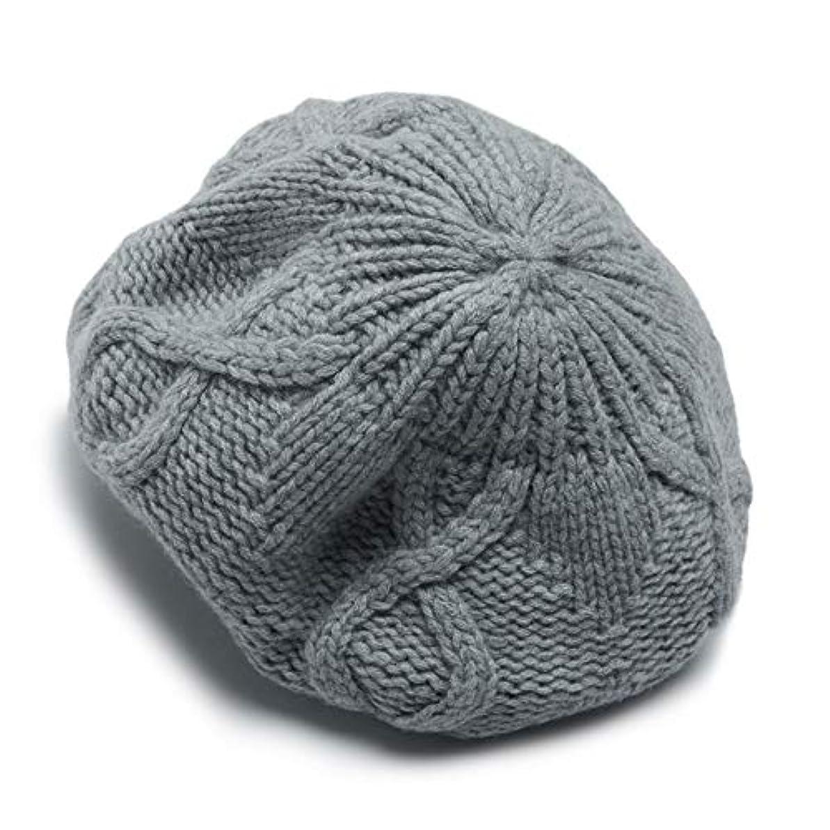 遠え貞アミューズメント優雅な カシミヤ帽子、カシミヤの秋と冬の屋外暖かい帽子、女性はニットカシミヤ帽子、灰色のベレー帽(キャップ??幅:13センチメートル;キャップ深さ:18センチメートル)
