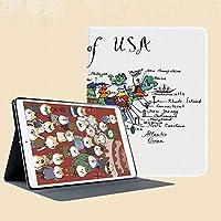 iPad Mini 3/2 / 1 ケース 超薄型 超軽量 TPU ソフトスマートカバー オートスリープ機能 衝撃吸収 二つ折りスタンドアメリカ民俗の地元のアイコンの象徴的な文化的要素を含むアメリカの計画