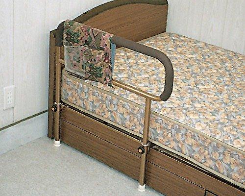吉野商会 ささえ (普通型) 重量4kg ベッド用起上がり手すり 小物整理バッグ付