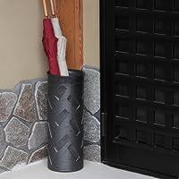 信楽焼 黒削り傘立て しがらき焼 笠立て 陶器 おしゃれ kt-0225
