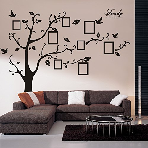 Large Family Photo Frame Tree Wall Sticker Removable Kids Home Decor Room Decals Mega(60*90cm)