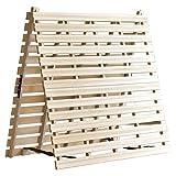 タンスのゲン すのこマット シングル 天然桐 折りたたみ ベッド 二つ折りタイプ リブ加工 風-kaze- AM 000078