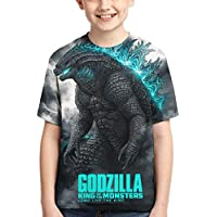 Boys Girls Godzilla 2 King of Monsters 3D Printed Short Sleeves T Shirt Fashion Youth Tee Shirts
