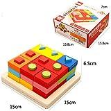 ACHICOO 木製パズル ギフト ビルディングブロック 木 形色の認識 子供 早期教育 おもちゃ