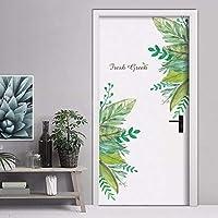 ベッドルームリビングルームキッズルームビニールリムーバブルアート壁画デカールPvc壁紙家の装飾のための緑の葉ウォールステッカー