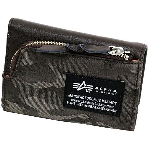 ALPHA INDUSTRIES INC(アルファ インダストリーズ) 財布 キーケース型 三つ折り コンパクト財布 ダークブラウン Free