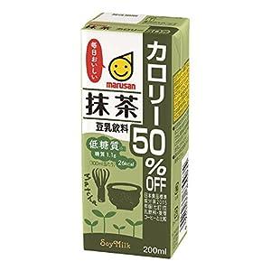 マルサン 豆乳飲料抹茶カロリー50% オフ 200ml×24本