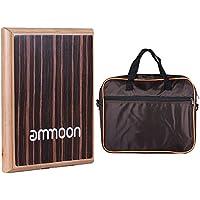 ammoon ボックスドラムカホン フラット鼓 コンパクト 打楽器 調節可能なストリングキャリングバッグ付き