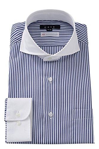 (オジエ) ozie ワイシャツ メンズ ドレスシャツ タイトフィット プレミアムコットン100番手双糸 形態安定/形状記憶 ホリゾンタルカラー カッタウェイ クレリック