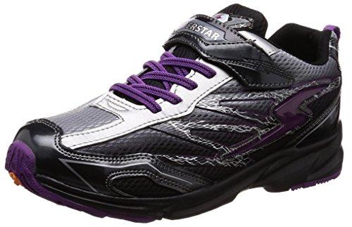 [スーパースター] 運動靴 通学履き マジック 軽量 19-24.5cm 3E キッズ 男の子 SS J817 シルバー 21.5 cm