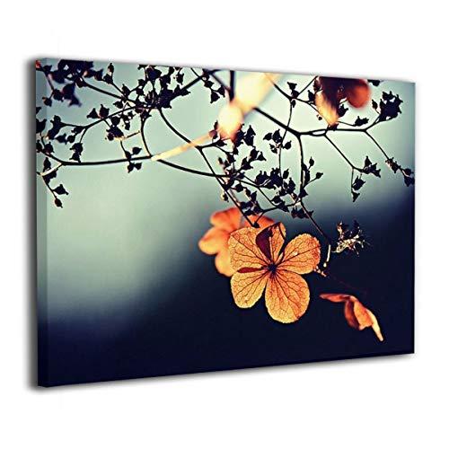 ブルームン アートパネル 30×40 花 支店 小枝 秋色 花びら フレーム 壁飾り アートフレーム アートポスター インテリア 枠なし