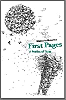 First Pages: A Poetics of Titles (Penn State Press)