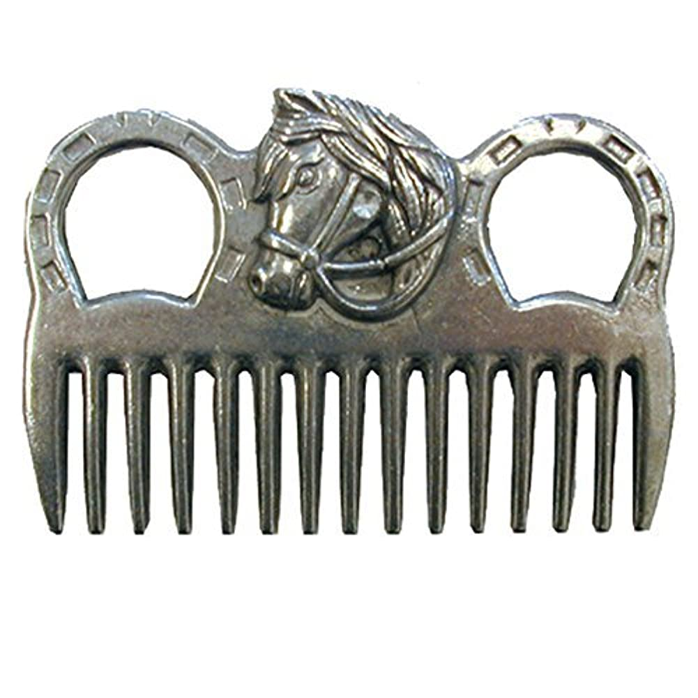 ストローちらつき誠実Intrepid International - MANE COMB ALUMINUM W/HORSEHEAD [並行輸入品]