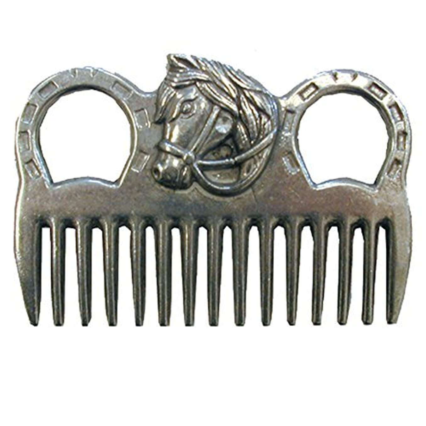 幅徴収資格情報Intrepid International - MANE COMB ALUMINUM W/HORSEHEAD [並行輸入品]