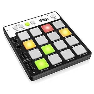 【日本正規代理店品】IK Multimedia iRig Pads ポータブル MIDIパッド コントローラー IKM-OT-000039