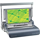 """Fellowes Quasar Wire Binding Machine with Starter kit (5217401) Quasar 14"""" Wire & 13"""" Coil with Open Ends Metallic Gray"""
