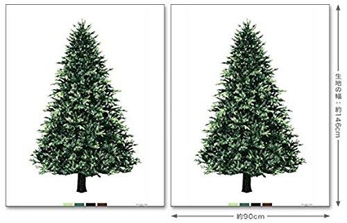 【お得】トーカイ ツリー タペストリー 2枚分 ウッド柄デザイン [90cm×2枚セット] インスタで大人気の壁面クリスマスツリー[場所を取らないので リビング、子供部屋、玄関などにも]