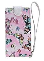 【完全受注生産】 HUAWEI P9 lite スマホ カバー ケース 手帳型 (縦 開き) ブックタイプ ダイアリー (PU レザー 合皮) 蝶々 さわやか かわいい 花柄 ピンク