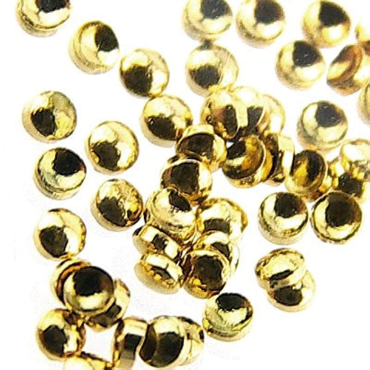 目覚める特徴づける勇気JeweLry NAiL Little pretty LPスタッズマル1mm ゴールド