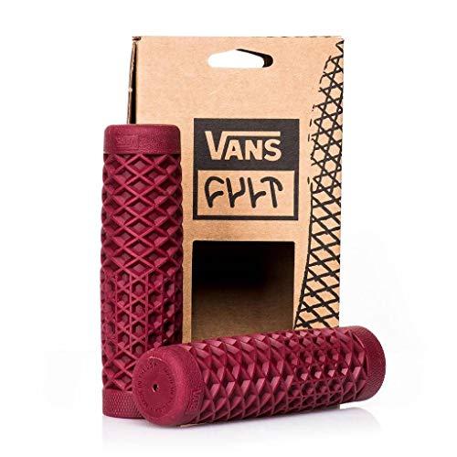 VANS x CULT バンズ カルト 正規 コラボレーション ハーレー バイク用 ゴム製 ワッフル ハンドル グリップ 1 インチ用 7/8インチ用 計5色 (OX-BLOOD レッド 1 inch)