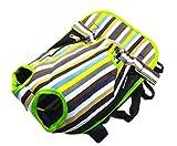 抱っこ ひも 紐 調節 可能 スリング バッグ キャリー 小型 中型 犬 用 子犬 ワンちゃん (ストライプ S)