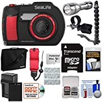 Sealife dc2000HD水中デジタルカメラwithブラケット& Flex Arm +トーチライト+ 64GBカード+バッテリー&充電器+ケース+ストラップ+キット
