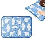 触れた瞬間北極気分 白クマ柄 ひんやり 冷感 枕カバー 枕パッド 熱帯夜対策 丸洗い可