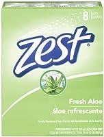 Zest 8-Bar Bath Size Soap Fresh Aloe 4 Ounce [並行輸入品]