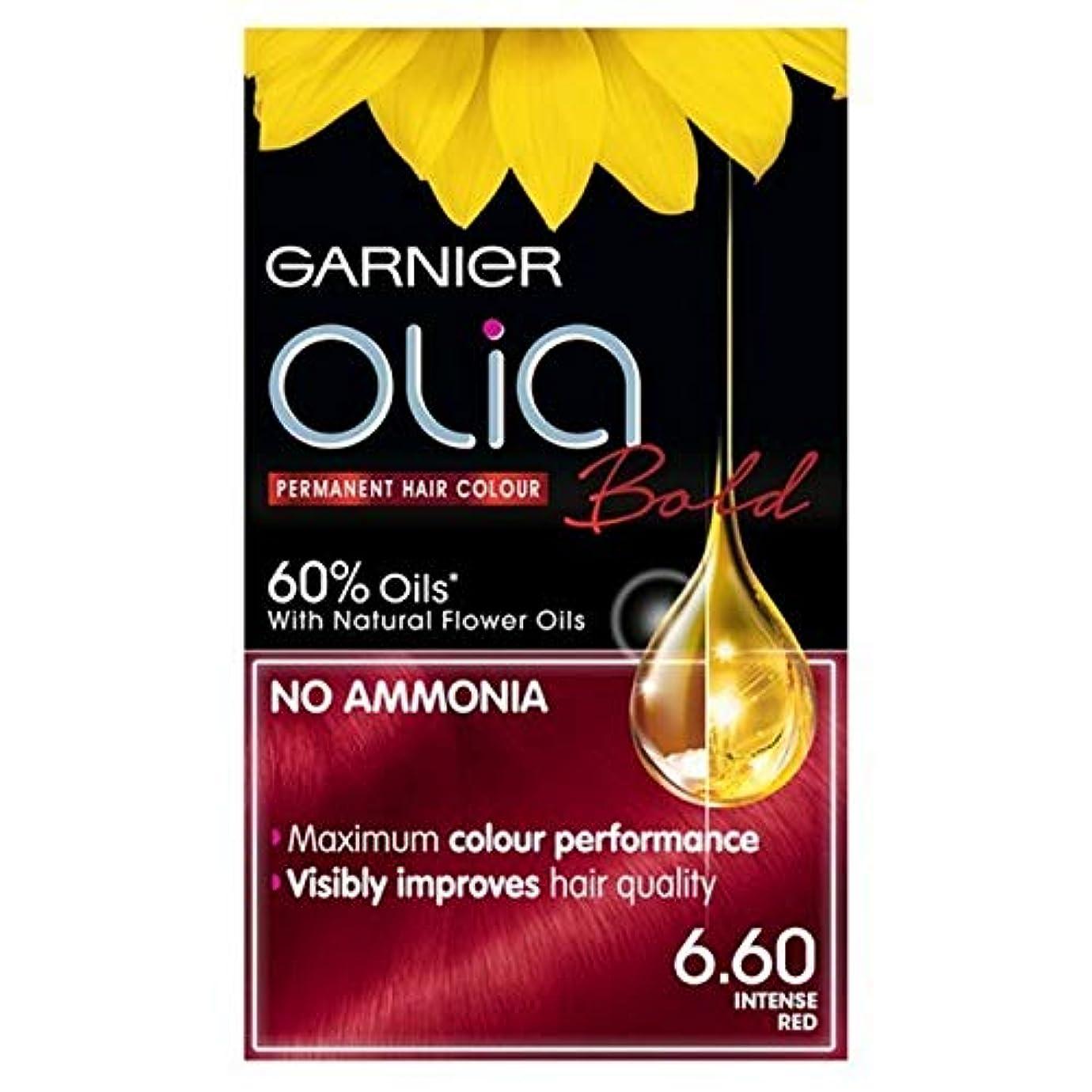 寄付するカレンダー化学薬品[Garnier ] ガルニエOlia大胆永久染毛剤強烈な赤6.60 - Garnier Olia Bold Permanent Hair Dye Intense Red 6.60 [並行輸入品]