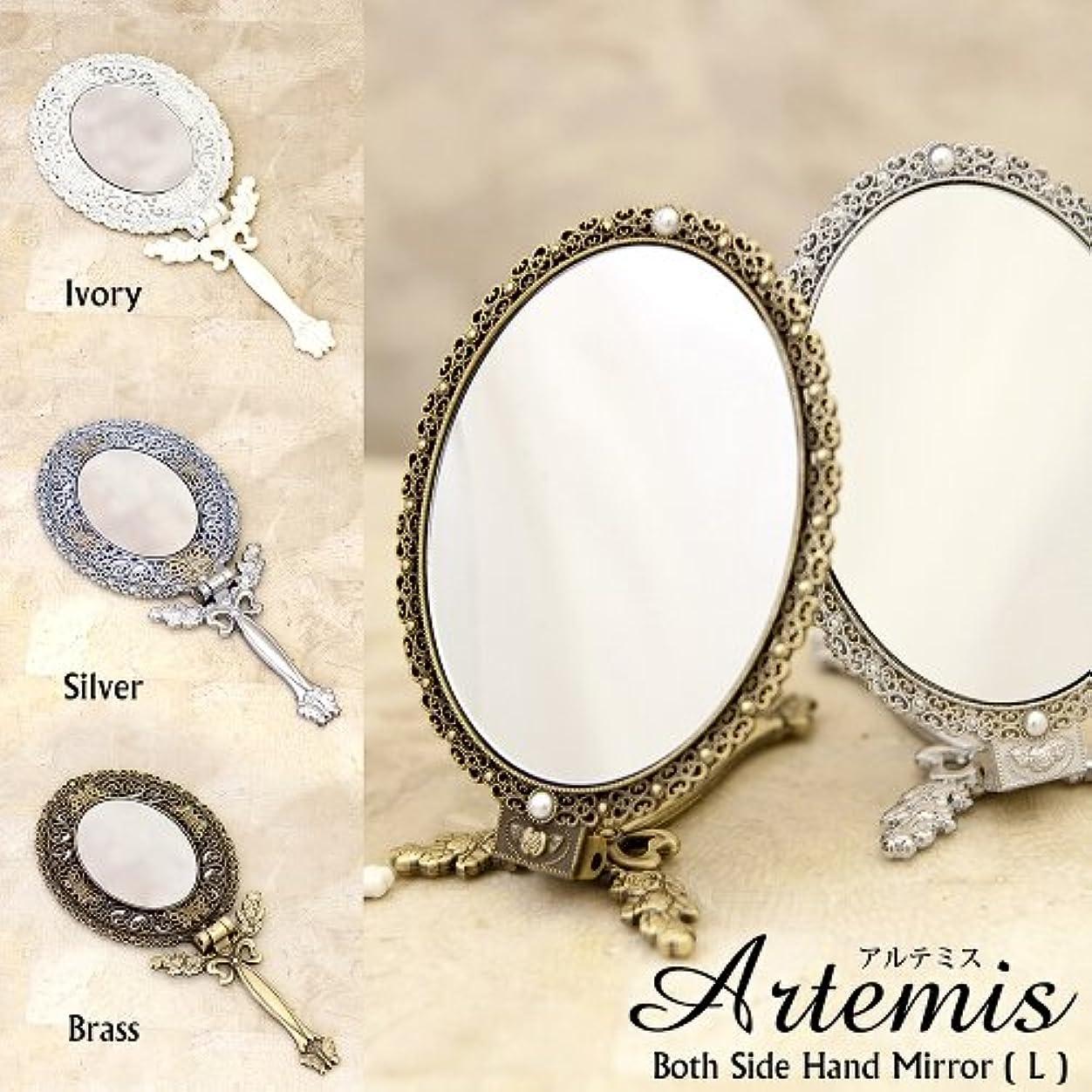 洗剤参照上アルテミス[ボスサイド ハンドミラー(L)]<手鏡> 【Brass L】