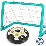 Totem World キッズ 玩具 ホバー 絵文字 サッカーボールセット ゴール2個付き ギフト フットボールディスクおもちゃ LEDライト付き 男の子 女の子 年齢2、3、4、5、6、7、8~16歳 屋内 屋外 スポーツボール ゲーム 子供用