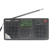 BCLラジオ PL-398MP 高感度 短波ラジオ 短波/AM/FMステレオラジオ MP3再生(SDカード) アイ・ダイレクトオリジナル 日本語取扱説明書付 ブラック(黒)
