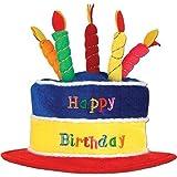 明るい色誕生日ケーキ帽子 Pkg of 3 60717-3