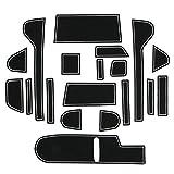 ホンダ N-BOX JF3/JF4 夜光 ドアポケットマット 水洗 蓄光 コンソールマット インテリア ラバーマット ゴム製 内装 ドレスアップ 19枚セット