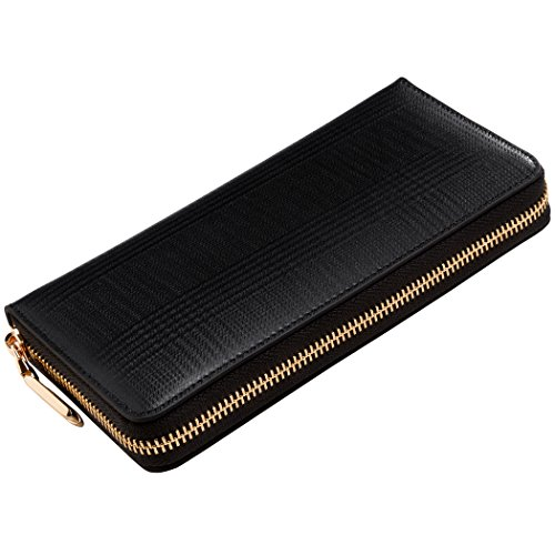 DAORA (ダオラ) 長財布 メンズ レディース ラウンドファスナー 本革 レザー 革 汚れに強い 撥水仕様 専用箱&保証書付 ブラック D-002-CM-BK