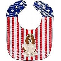Caroline 's Treasures bb3016bib Patriotic USAベビーよだれかけ、バセットハウンド、Large