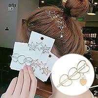 PFJJ 女性女の子女性子供のヘアクリップ帽子Hairwearファッションゴールデンシルバー現代の猫スターヒトデビーチパーティー (Color : Gray)
